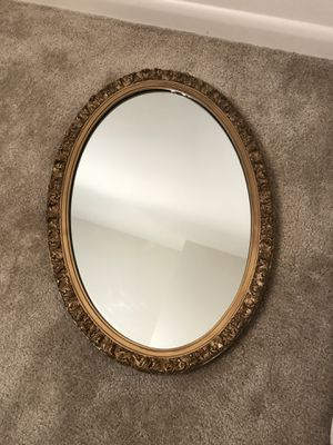 Beautiful Gold Frame Oval Mirror for Sale in Annandale, VA