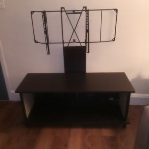 Black Tv Stand With Mount for Sale in Boston, MA