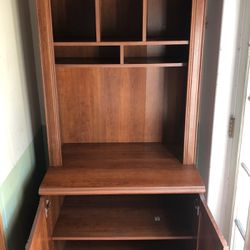 5 compartments of heavy wood bookshelves for Sale in Fountain Valley,  CA