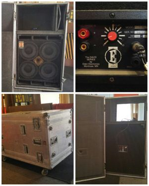 David Eden bass cabinet and road case for Sale in Atlanta, GA