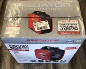 Predator Generator (62523) 2,000W Super Quiet Inverter Generator $400 for Sale in Los Angeles, CA