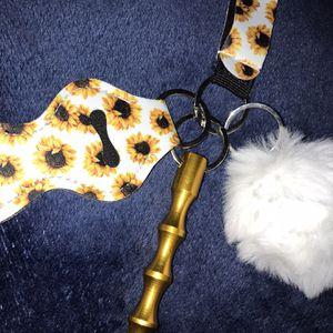 Wristlet Keychain With Pompom And Kubotan for Sale in Fresno, CA