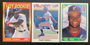 3 Frank Thomas Rookie Baseball Cards Includes 1990 Leaf for Sale in Brea, CA