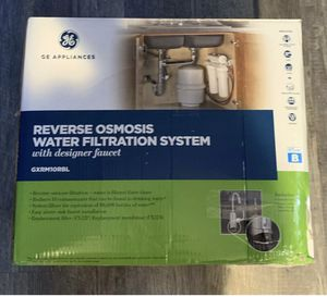 New, GE Reverse Osmosis Water Filtration System Filter Under Sink for Sale in Stockton, CA