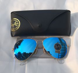 Blue Aviator Gold Frame Sunglasses for Sale in New York,  NY