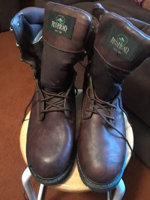 Red head boots, sizes 10 1/2 wide for Sale in Princeton, TX
