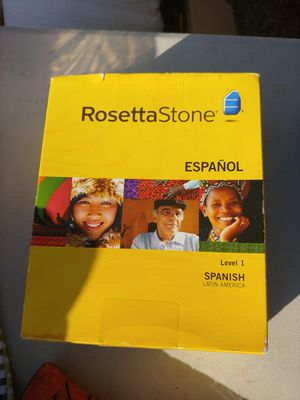 Rosetta Stone Spanish level one cd learning for Sale in West Covina, CA