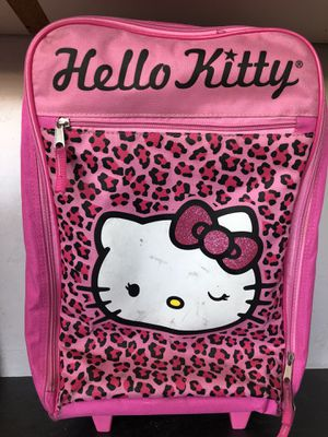 Hello Kitty suitcase with wheels for Sale in San Diego, CA