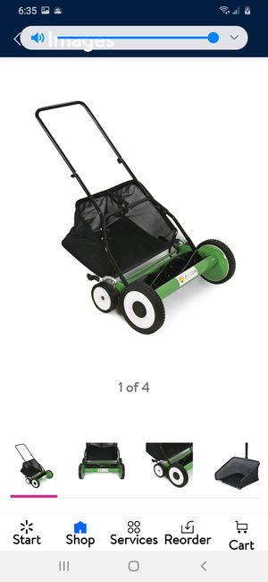 Hand push lawn mower, like new for Sale in Fresno, CA