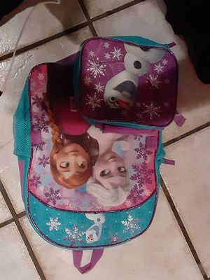 Frozen back pack and lunch bag for Sale in Houston, TX