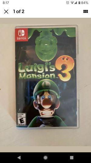 Nintendo Switch Luigi's Mansion 3 for Sale in Perris, CA