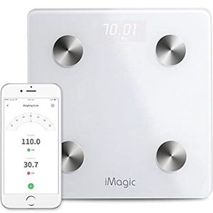 Bluetooth Weight Scale by iMagic for 11 Fitness Indicators, Bluetooth Smart Digital Scale with iOS/Android APP, Body Composition Analyzer for for Sale in Ontario, CA