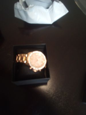 Rose colored Watch with diamond circle for Sale in Riverside, CA