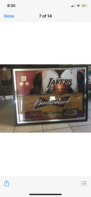 Lakers sign with Kobe in the back for Sale in Tulare, CA