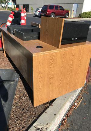 Corner wood desk for Sale in San Marcos, CA