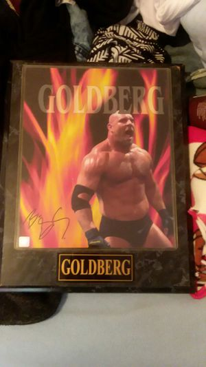 Autographed Goldberg plaque for Sale in Kingsport, TN