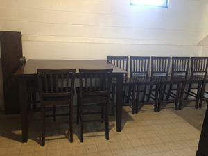 Kitchen table and 8 chairs for Sale in Trumansburg, NY