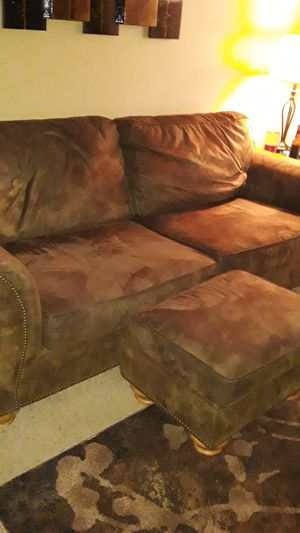 Couch, recliner and ottoman for Sale in Jamestown, NY