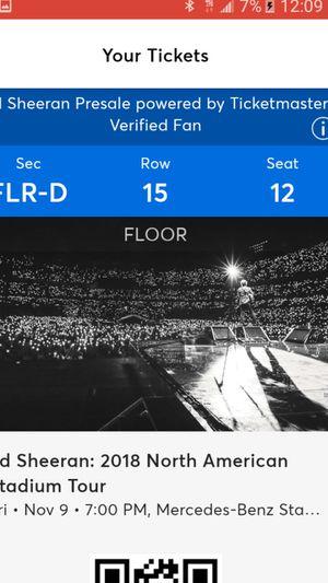 2 Ed Sheeran Floor Seats for Sale in Atlanta, GA