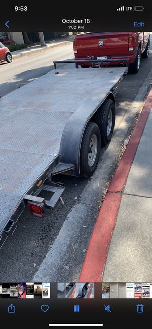 Car Trailer / trailer utility trailer for $100 day for Sale in Moreno Valley, CA