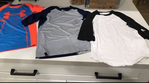 Baseball tees Under Armour ,Nike Pro and Adidas 3 for $20 for Sale in Chandler, AZ