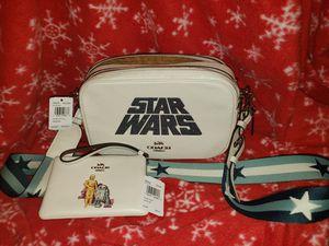 COACH STAR WARS X (Limited Edition)JES CROSSBODY WITH GLITTER MOTIF (COACH F89037) BONUS- wristlet (Coach F88924) for Sale in Burleson, TX