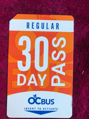 30 day buss pass for Sale in Santa Ana, CA