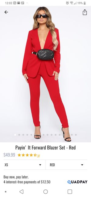 The pants are new the set is size M from FASHION NOVA $25 for Sale in San Jacinto, CA