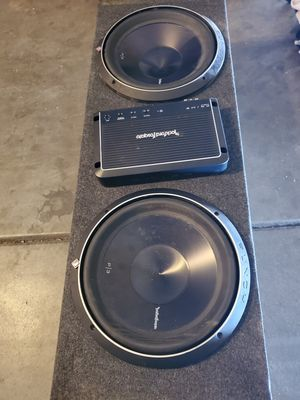 Rockford fosgate 12 punch P/3 and amp for Sale in Las Vegas, NV