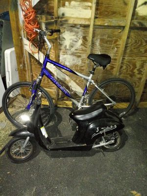 Trek mountain bike and electric scooter for Sale in Vineland, NJ
