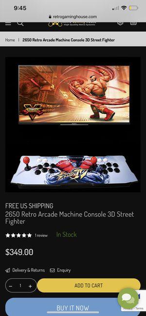 2650 Retro Arcade Machine Console 3D Street Fighter for Sale in Houston, TX