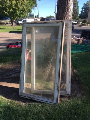 Vintage wood casement windows, large for Sale in Chico, CA
