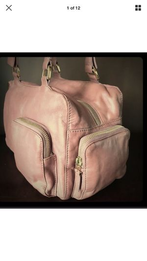 Francesco Biasia Leather Bowling bag purse pink for Sale for sale  Seattle, WA