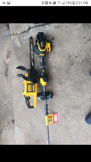 Dewalt 60v flexvolt chainsaw and trimmer for Sale in Arlington, TX