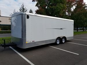 Like new 20x8.5x7 tall enclosed cargo trailer must sell today for Sale in Renton, WA