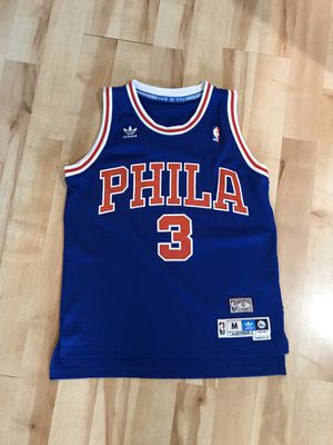 Allen Iverson #3 Sixers Jersey (royal blue, size M) for Sale in Hinsdale, IL