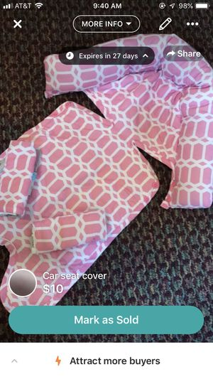 Car seat headrest/ strap cover for Sale in Dunmore, PA