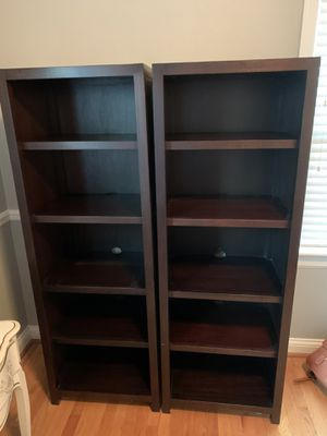 Crate & Barrel bookshelf set for Sale in St. Louis, MO