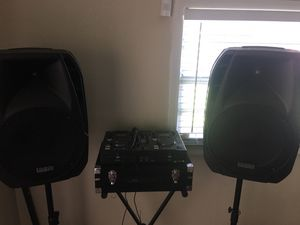 DJ sound equipment for big parties 3500 W for Sale in Tampa, FL