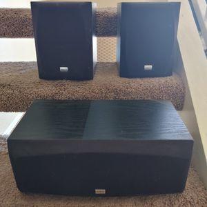 Onkyo 100W Surround Sound System. Center Speaker + 2 Book Shelf Speakers. for Sale in Phoenix, AZ