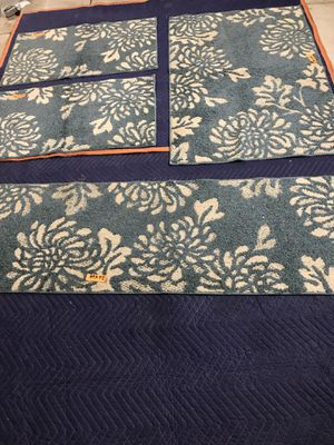 *Set of 4 matching area rugs including hallway runner - Teal/ivory* for Sale in Livermore, CA