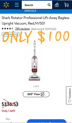 SHARK Upright Bagless Vacuum Cleaner **BRAND NEW** for Sale in Tupelo, MS