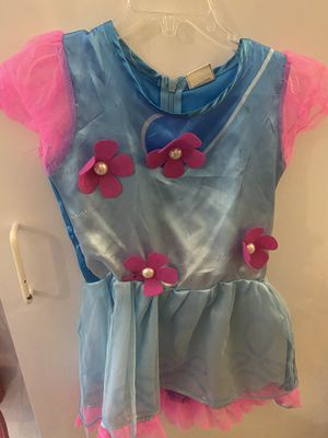Trolls Dress size 3t with Wig for Sale in Norwalk, CA