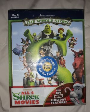 Brand new sealed SHREK BOX SET Christmas feature included for holidays. Great for whole family for Christmas cheer! for Sale in Valencia, CA
