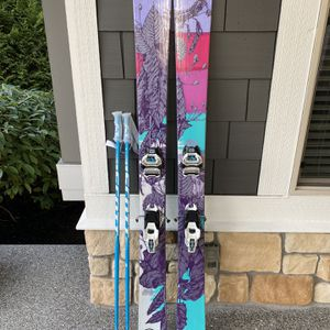K2 Miss Directed Skis, Size 169 w/ Marker Griffon Bindings & Scott Poles for Sale in Renton, WA