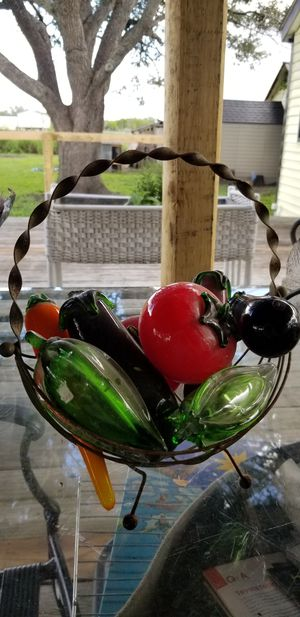 Antique fruit and veg glass center piece for Sale in Sandia, TX