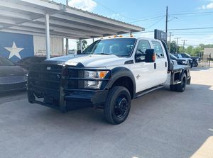 2014 Ford F450 Super Duty Crew Cab Flatbed F350 4X4 for Sale in Grand Prairie, TX