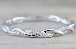 Silver infinity ring with rhinestones for Sale in Cumberland, VA