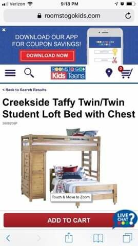 Twin Size bunk bed with side dresser for Sale in West Palm Beach, FL