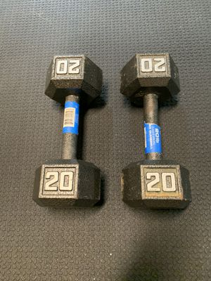 New 20lb metal hex dumbbell set for Sale in O'Fallon, MO